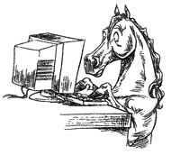 Horse-using-a-computer
